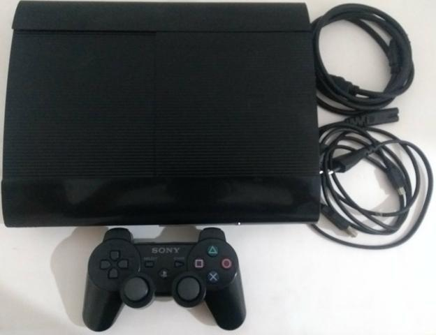 Playstation 3 ps3 play 3 com mais de 20 jogos