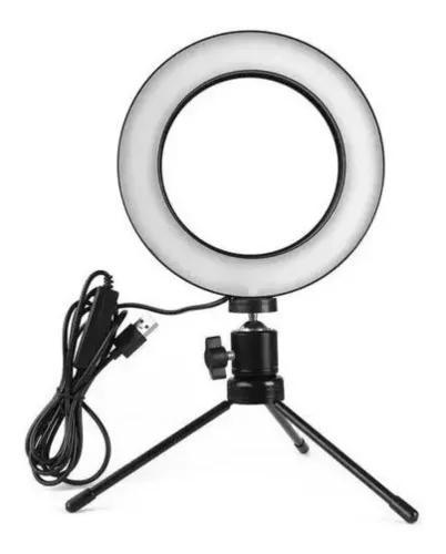 Ring Light Iluminador Led 16cm Tripe Usb 3500k 6000k Bj20