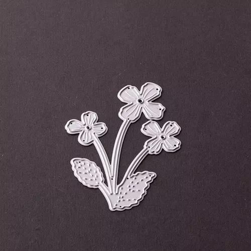 Três flores forma corte morre diy aço carbono morrer scrap