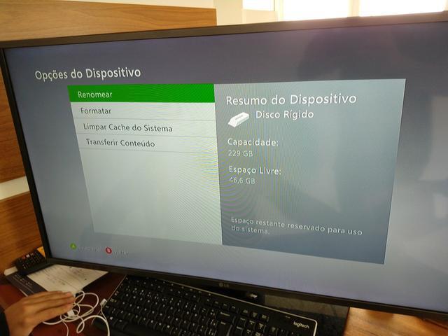 Xbox 360 slim original 250gb de hd - bloqueado - joga na