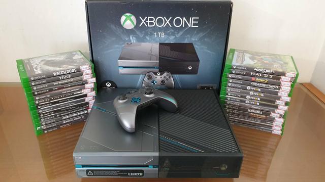 Xbox one edição especial halo 1tb com garantia - aceitamos