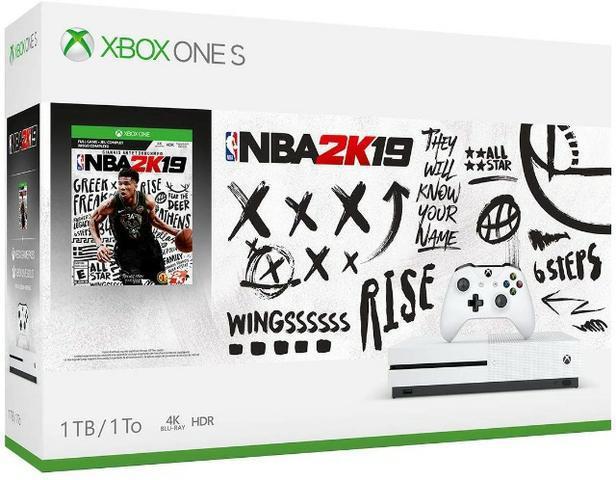 Xbox one s 1tb 4k hdr bundle nba 2k lacrado e original