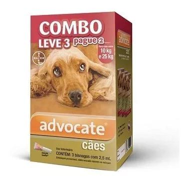Antipulga bayer advocate combo cães 10-25kg