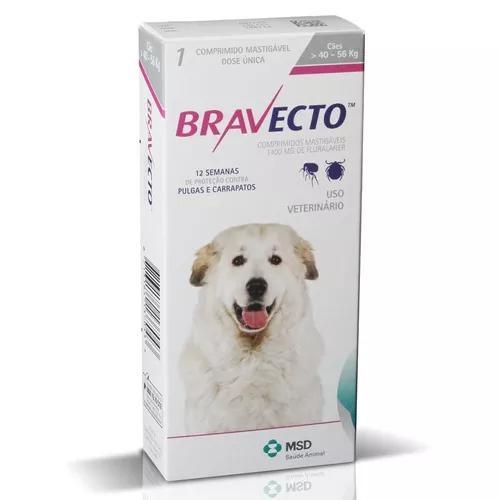 Antipulga carrapato bravecto 1400 mg cães de 40 kg a 56 kg