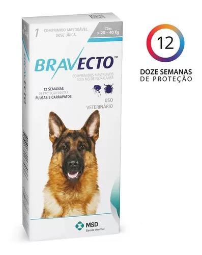 Antipulga carrapato bravecto - cães de 20 kg a 40 kg