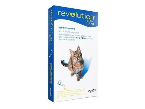 Antipulga revolution 6% gato 2,6-7,5kg 1pipeta