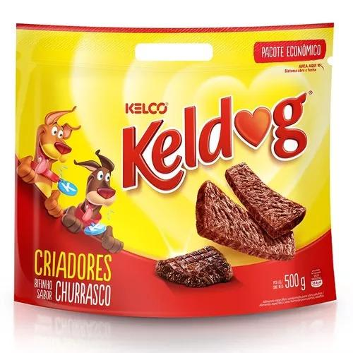 Bifinho keldog para cães adultos sabor churrasco - 500g