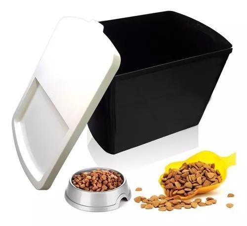 Caixa de armazenar guardar ração 15 kg 40 litros com tampa