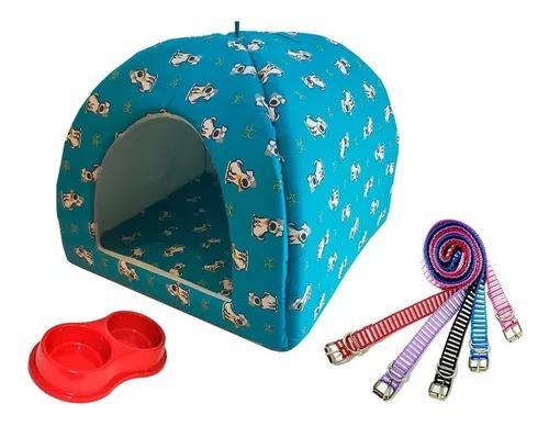 Cama cabana toca tenda iglu casa pet gato cachorro + brinde