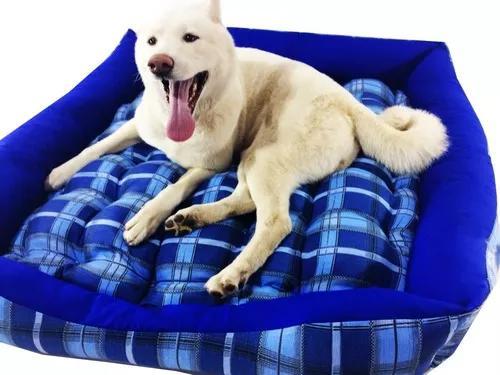 Cama pet cachorros grande golden / labrador / akita 90x90cm