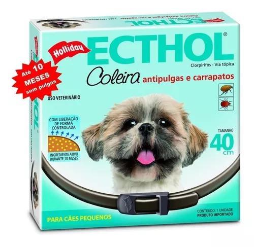 Coleira antipulgas e carrapatos hollyday para cães-10 meses