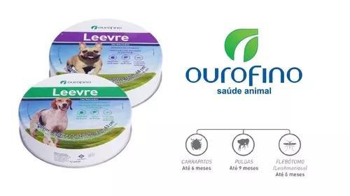 Combo coleira anti pulgas cachorro leevre 1 coleiras p + 1g