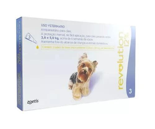 Combo revolution 30 mg caes 2,5 a 5 kg 3 pipetas