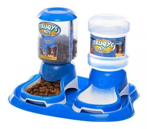 Comedouro duplo para cachorros e gatos bebedouro automatico