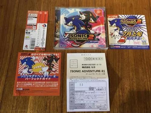 Dreamcast: sonic adventure 2 completo frete gratis