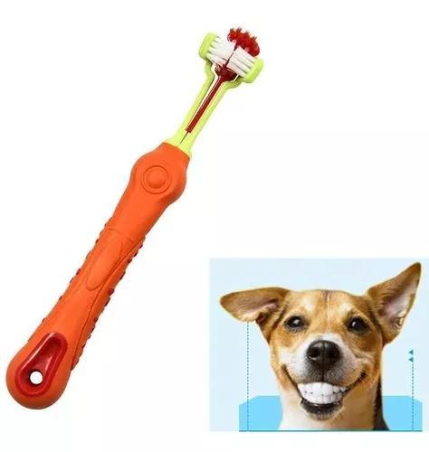 Escova De Dente Pet Limpeza Tártaro Mau Hálito Do Cachorro