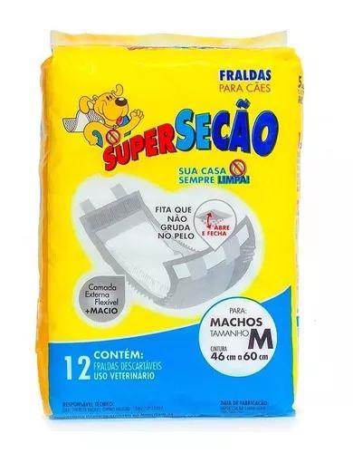 Fralda Para Câes Super Secão Machos M