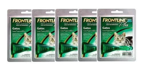 Frontline Plus Gato Combo 5 Unidades