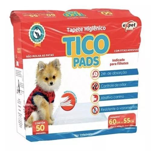 Kit com 50 un tapete higiênico caes cachorro pequeno 60x55
