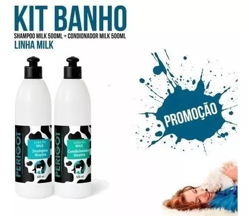 Kit milk perigot- shampoo neutro + condicionador neutr 500ml