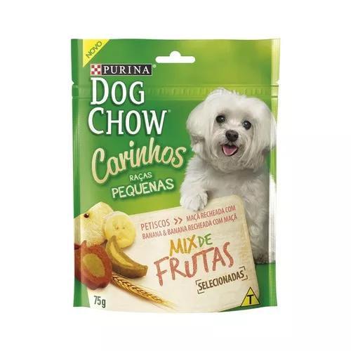 Petisco dog chow cães raças pequenas sabor mix de frutas