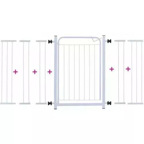 Portão para cachorros grade de proteção p/ portas 1,60cm
