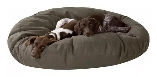 Puff cama cachorro gato couro ecológico impermeável tam. g