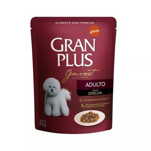Ração úmida granplus gourmet para cães adultos sachê