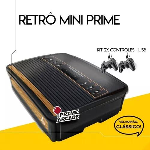 Retrô mini prime arcade (c/ 2 controles)