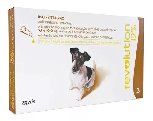 Revolution 12% combo para cães 5,1-10 kg