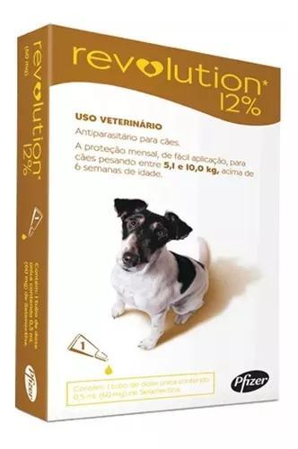 Revolution antipulgas cães de 5 a 10kg - c/1 pipetas