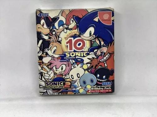 Sonic adventure 2 10th anniversary original japonês