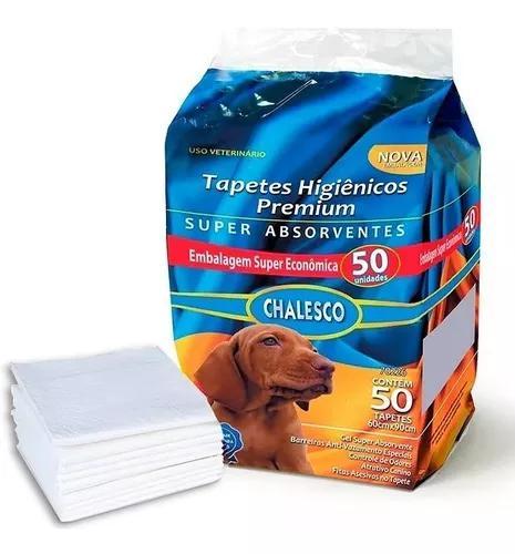 Tapete higienico chalesco p/ caes 1 pacote com 50 unidades