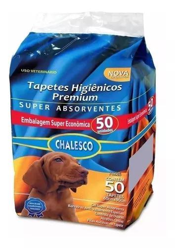 Tapete higienico chalesco para caes 1 pacote com 50 unidades