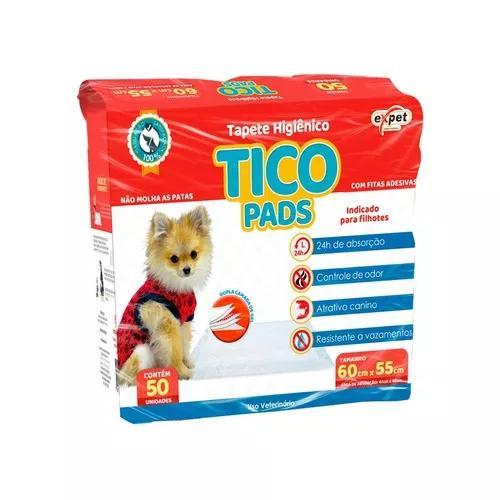 Tapete higiênico expet para cães tico pads - 50un
