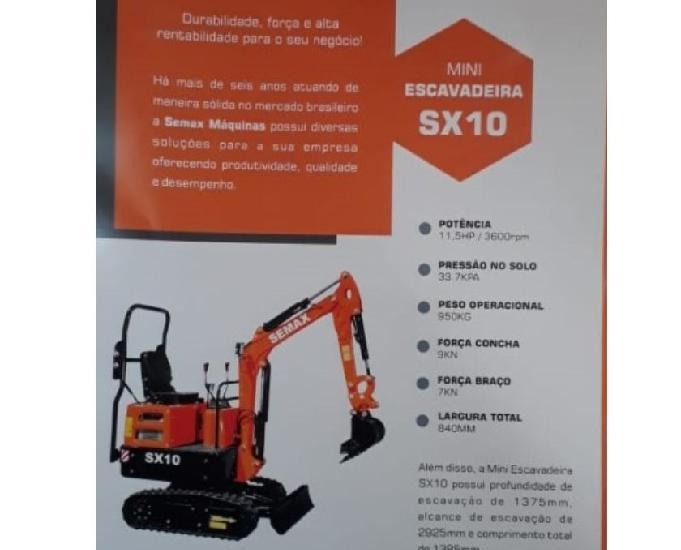 Vendo mini escavadeira semax sx10