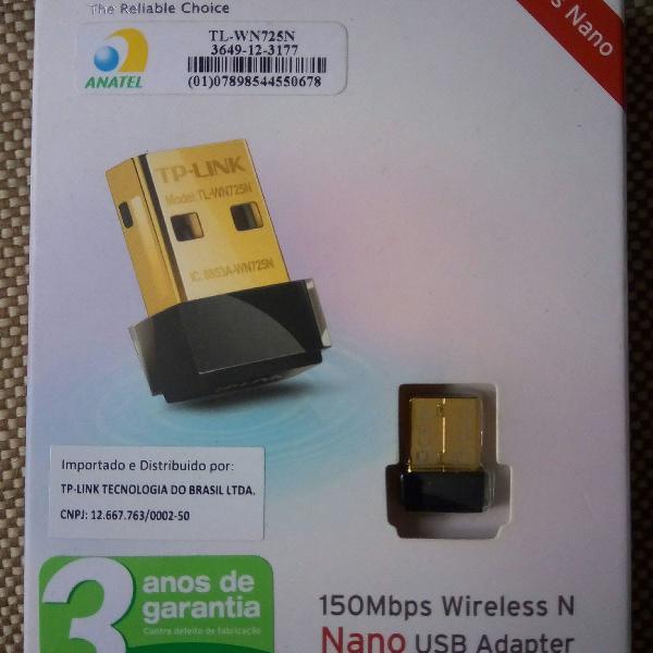 Adaptador wireless usb tp link tl-wn725n 150mbps nano