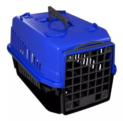 Caixa de transporte n.1 cão cachorro gato pequena azul