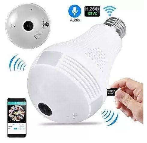 Camera lâmpada vr cam 360° wi-fi