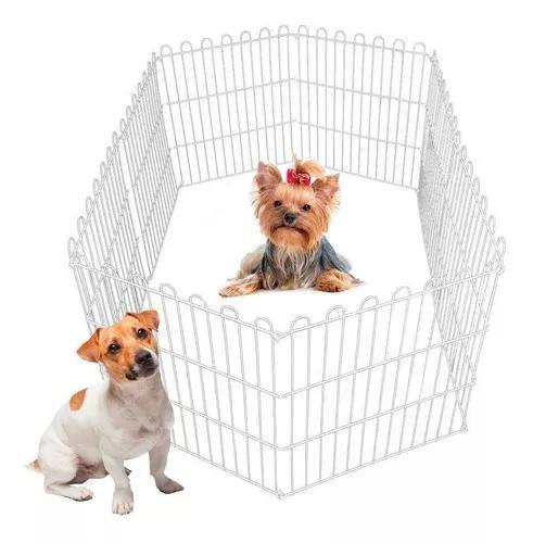 Cercado pet cachorros cães coelhos gatos 6 lados 60alt x55c