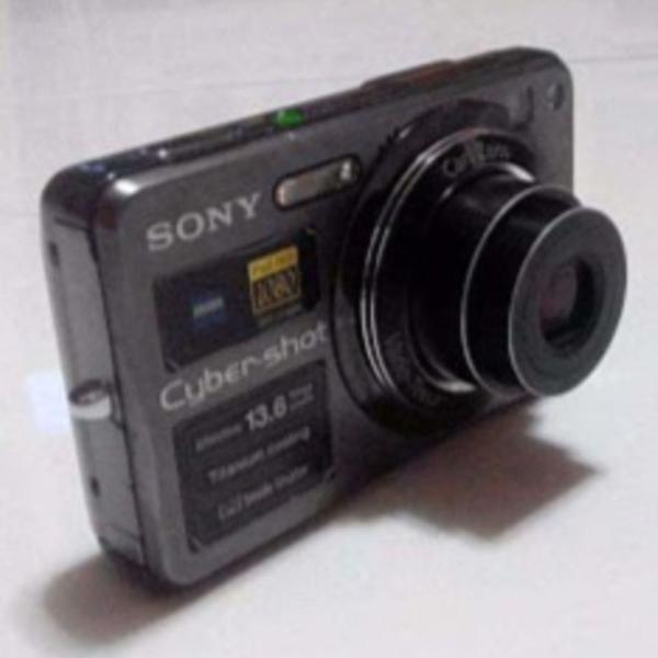 Câmera sony cyber shot titanium coating 13.6 megapixels