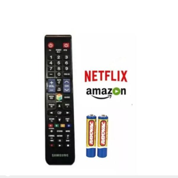 Controle para tv smart samsung com pilhas função netflix e