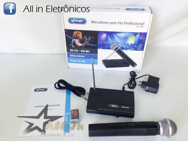 Kit - 2 microfones knup sem fio wireless bluetooth,
