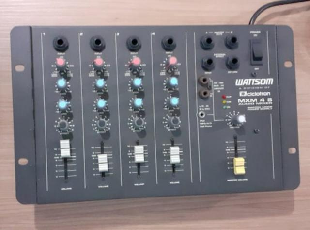 Mesa de som 4 canais mxm-4-sa - ciclotron audio mixer