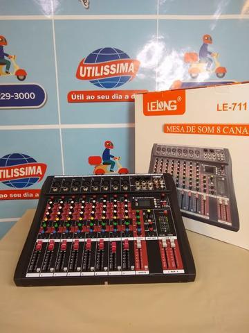 Mesa de som 8 canais le-709 (entrega gratis) *