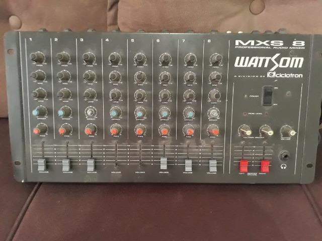 Mesa de som analógica mxs 8 canais - ciclotron