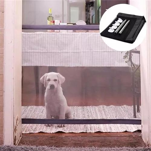 Portão grade de porta cachorros pet cães gate magic dog