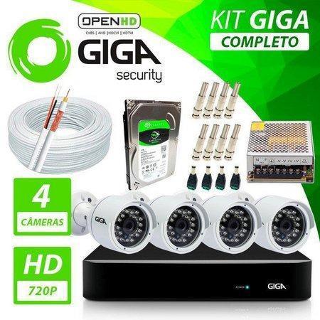 R$ 999 kit cftv 4 câmeras alta definição acesso remoto