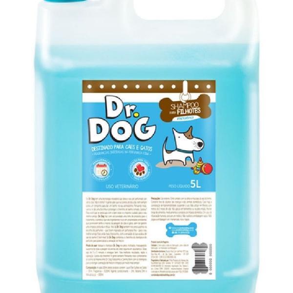 Shampoo para cães e gatos dr. dog neutro e filhotes 5l