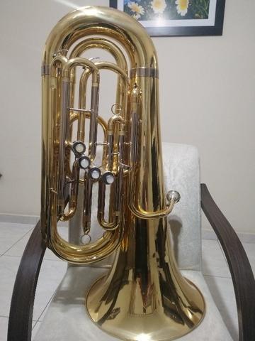 Tuba Weril Master Mib 4 Pistos Dourada - Bombardão